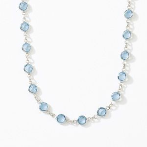 Touchstone Crystal Chanelle Necklace, Aqua